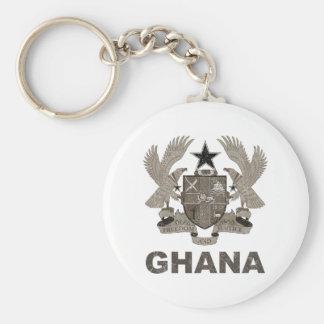 Vintage Ghana Coat Of Arms Keychain