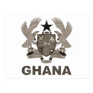 Vintage Ghana Coat Of Arms Postcard