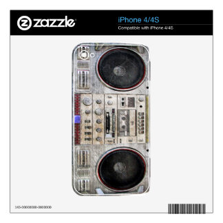 VINTAGE GHETTO BLASTER DECALS FOR THE iPhone 4S