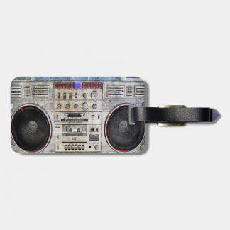 Vintage ghetto blaster tags for bags