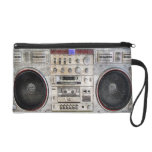 Vintage ghetto blaster wristlet purse