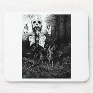 Vintage Ghost Illustration Mouse Pad