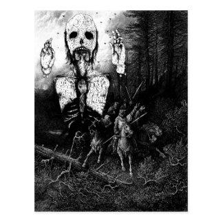 Vintage Ghost Illustration Postcard