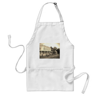 Vintage Ghost Town Hotel Adult Apron
