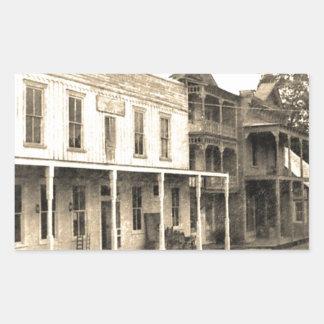 Vintage Ghost Town Hotel Rectangular Sticker
