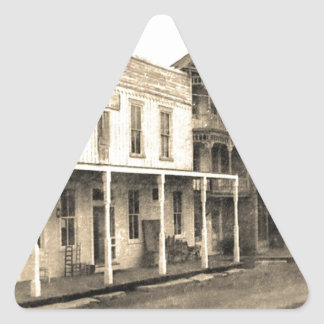 Vintage Ghost Town Hotel Triangle Sticker