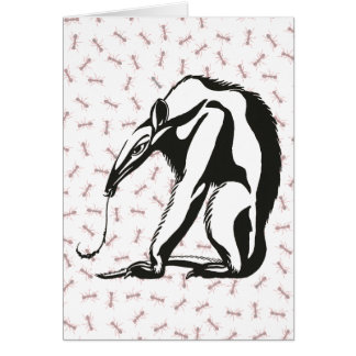 Vintage Giant Anteater by Marcus Behmer Card