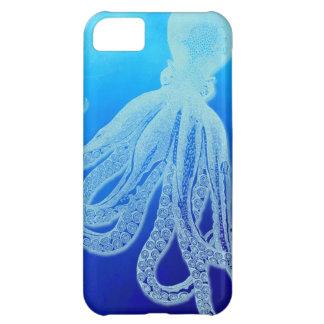 Vintage Giant Octopus in Deep Blue Ocean Case For iPhone 5C
