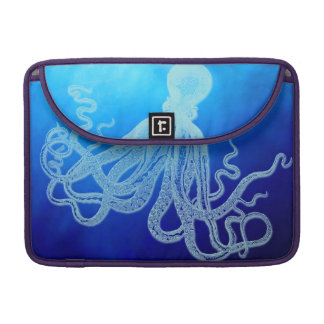 Vintage Giant Octopus in Deep Blue Ocean Sleeve For MacBooks
