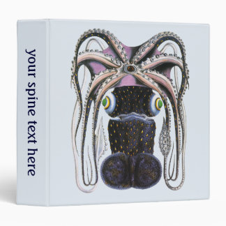 Vintage Giant Octopus or Squid, Marine Life Animal 3 Ring Binder