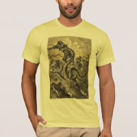 Vintage Giant Squid  Sea Monster T-Shirt