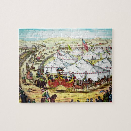 Vintage Gibson Circus Art Puzzle