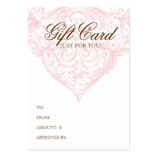 Vintage Gift Card Spring Pink Acanthus Business Card