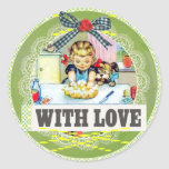 vintage gift tag sticker