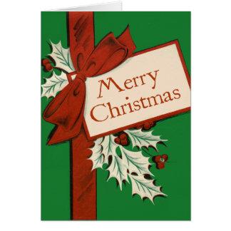 Vintage Giftwrap Christmas card