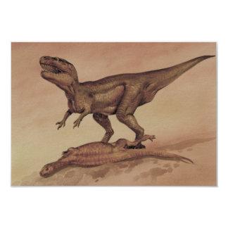 Vintage Giganotosaurus Dinosaur, Carnivore 3.5x5 Paper Invitation Card