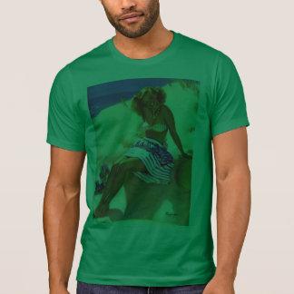 Vintage Gil Elvgren Beach Summer Pin up Girl T-shirts