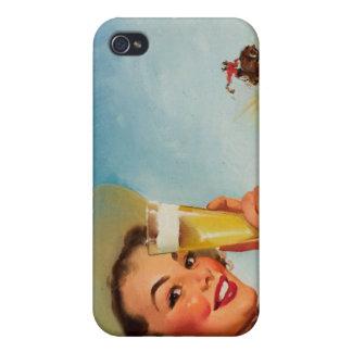 Vintage Gil Elvgren Beer Western Pin up Girl iPhone 4 Cases