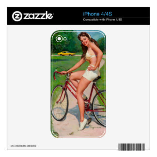 Vintage Gil Elvgren Bicycle Cyclist Pin up Girl iPhone 4 Skins