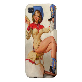 Vintage Gil Elvgren Boot Shine Country Pin UP Girl iPhone 4 Covers