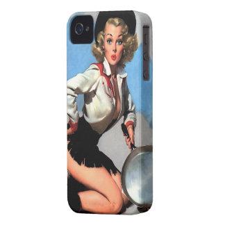 Vintage Gil Elvgren Camp Fire Western Pin up girl iPhone 4 Case