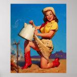 Vintage Gil Elvgren Campfire Pin UP Girl Poster