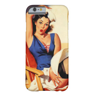 Vintage Gil Elvgren Cruise Ship Pinup Girl Barely There iPhone 6 Case