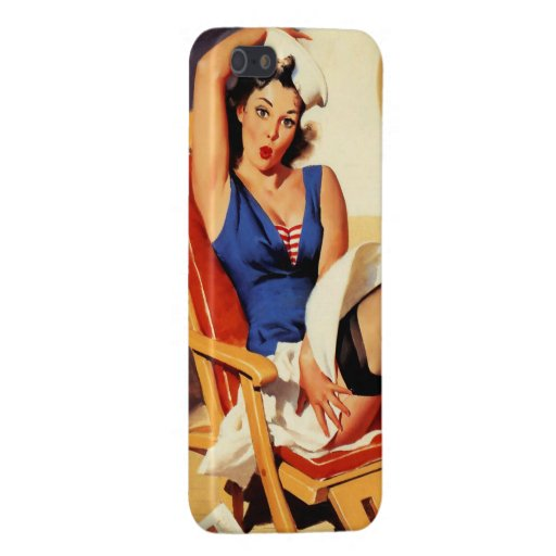 Vintage Gil Elvgren Cruise Ship Pinup Girl Cases For iPhone 5
