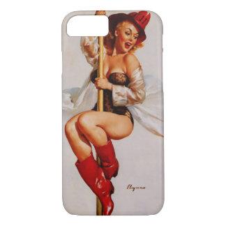 Vintage Gil Elvgren Firefighter Pin Up Girl iPhone 7 Case