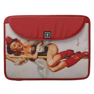 Vintage Gil Elvgren Firefighter Pin Up Girl Sleeve For MacBook Pro