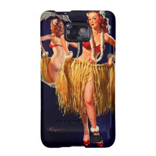 Vintage Gil Elvgren Hula Hawaiian Pin UP Girl Samsung Galaxy Case