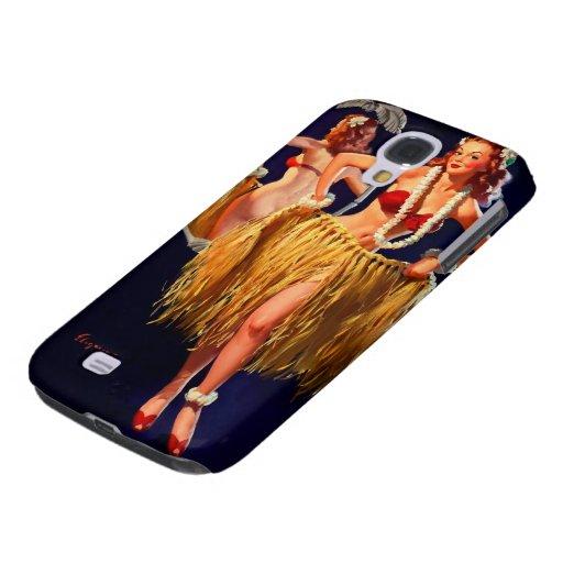 Vintage Gil Elvgren Hula Hawaiian Pin UP Girl Galaxy S4 Cases