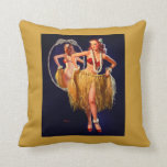Vintage Gil Elvgren Hula Hawaiian Pin UP Girl Pillows