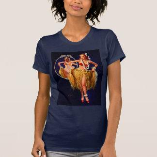 Vintage Gil Elvgren Hula Hawaiian Pin UP Girl T-Shirt