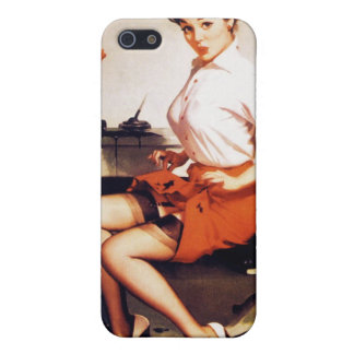 Vintage Gil Elvgren Office Corporate Pinup Girl Cover For iPhone 5/5S