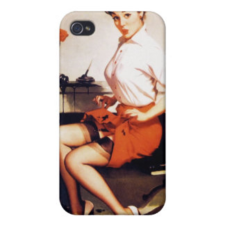 Vintage Gil Elvgren Office Corporate Pinup Girl Covers For iPhone 4