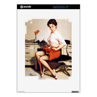 Vintage Gil Elvgren Office Corporate Pinup Girl iPad 2 Decals