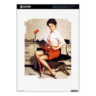 Vintage Gil Elvgren Office Corporate Pinup Girl iPad 3 Skin