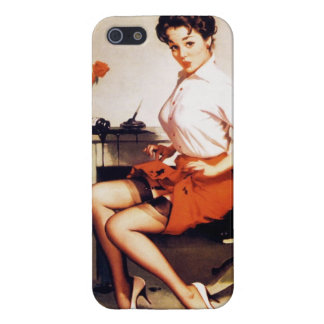 Vintage Gil Elvgren Office Corporate Pinup Girl iPhone 5 Covers