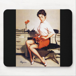 Vintage Gil Elvgren Office Corporate Pinup Girl Mouse Pad