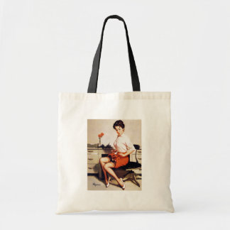 Vintage Gil Elvgren Office Corporate Pinup Girl Tote Bag
