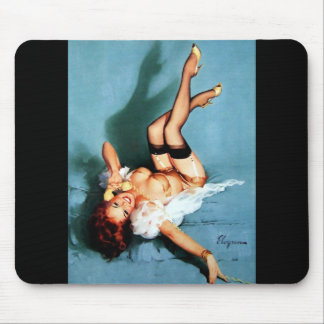 Vintage Gil Elvgren Pin UP Girl on The Phone Mousepad