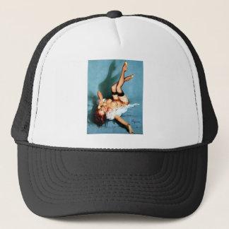 Vintage Gil Elvgren Pin UP Girl on The Phone Trucker Hat