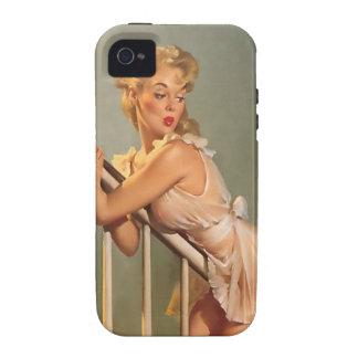 Vintage Gil Elvgren Pinup Girl iphone 4 Tough Case Case-Mate iPhone 4 Case