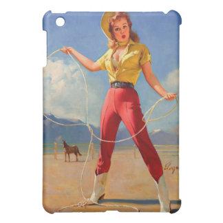 Vintage Gil Elvgren Ranch Western Pin up girl iPad Mini Case