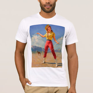 Vintage Gil Elvgren Ranch Western Pin up girl T-Shirt