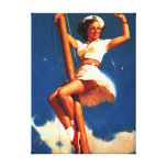 Vintage Gil Elvgren Sail Boat Sailing Pin UP Girl Gallery Wrapped Canvas