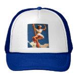 Vintage Gil Elvgren Sail Boat Sailing Pin UP Girl Trucker Hats