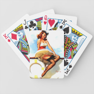 Vintage Gil Elvgren Sailor Nautical Pin up Girl Bicycle Playing Cards