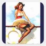 Vintage Gil Elvgren Sailor Nautical Pin up Girl Stickers